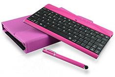 mBeat iPad Mini Bluetooth Keyboard Folio Case & Stylus Pink