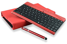 mBeat iPad Mini Bluetooth Keyboard Folio Case & Stylus Red