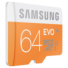 Samsung EVO 64GB microSDXC