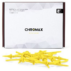Noctua Yellow Chromax Anti Vibration Mounting Bolts 20 Pack