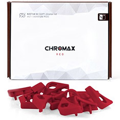 Noctua Chromax Anti Vibration Pads 16 Pack Red