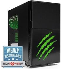 Nanoxia Deep Silence 4 Claw Black/Green Case