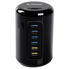 Orico 4 Port USB 3.0 Hub with Charging Ports & Card Reader