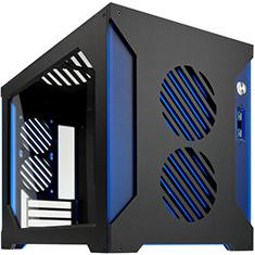 Parvum Systems S2.0 Micro ATX Case Black/Blue