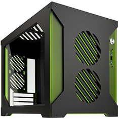Parvum Systems S2.0 Micro ATX Case Black/Green