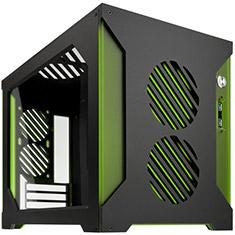 Parvum Systems S2.0 Micro ATX Case Black/Green