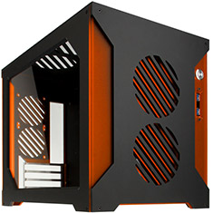 Parvum Systems S2.0 Micro ATX Case Black/Orange