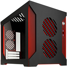 Parvum Systems S2.0 Micro ATX Case Black/Red
