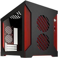 Parvum Systems S2.0 Micro ATX Case Black/Red