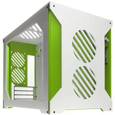 Parvum Systems S2.0 Micro ATX Case White/Green