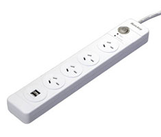 Huntkey Power Surge Protector 4 Outlets with Dual USB