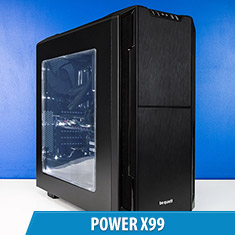 PCCG Power X99 Gaming System Black
