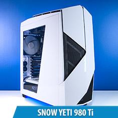 PCCG Snow Yeti 980 Ti Gaming System
