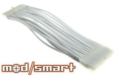ModSmart Kobra Cable 24pin White 20cm Power Extension