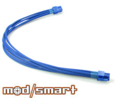 ModSmart Kobra Cable 6pin PCI-E Extension, UV Blue, 40cm