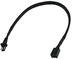 Phobya 3Pin Extension 30cm Black