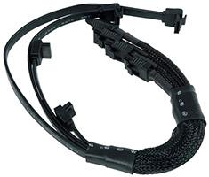 Phobya Multi 4x SATA3 Cable Single Sleeve