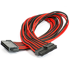 Phanteks Motherboard 24-pin Extension Cable Black/Red