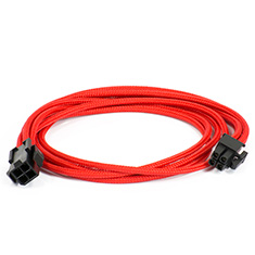 Phanteks Motherboard 4-pin Extension Cables Red