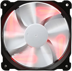 Phanteks F120SP 120mm Case Fan Red LED