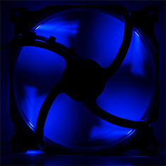 Phanteks 140mm Black Frame White Blade Premier Fan Blue LED