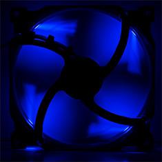 Phanteks 140mm Black Frame White Blade Premier Fan Blue LED
