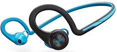Plantronics Backbeat Fit with Mic and Carry Case Blue
