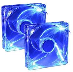Cooler Master SI3 Blue LED 120mm Silent Fan 2 Pack