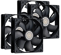Cooler Master SI2 Silent 120mm Fan 4 Pack