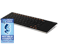 Rapoo E2700 Wireless Multimedia Touchpad Keyboard Black