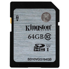 Kingston SDXC/SDHC Class 10 UHS-I 64GB