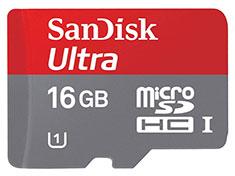 SanDisk Ultra MicroSDHC UHS-I 16GB