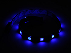 Silverstone 30cm 15 LED Flexible Strip Blue