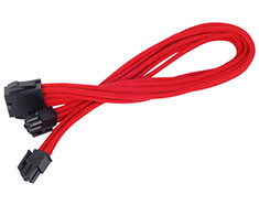 Silverstone PP07 8pin EPS Power Cable 30cm Red