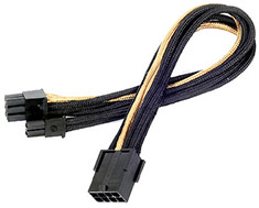 SilverStone PP07 8Pin PCI-E Power Extension Black/Gold