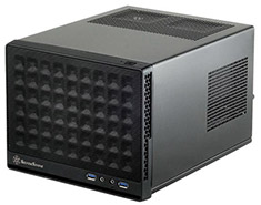 SilverStone Sugo SG13 Small Form Factor ITX Case Mesh Black
