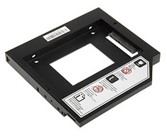 SilverStone TS09 Notebook Optical Drive Slot Converter Black