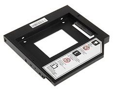 SilverStone TS09 Notebook Optical Drive Slot Converter Black