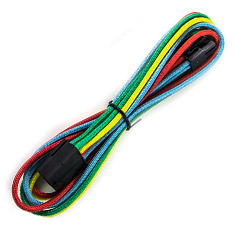 PCCG Sleeved 45cm PCI-E 6pin Cable Rainbow