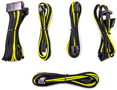 PCCG Sleeved Cable Extension Kit Bumblebee