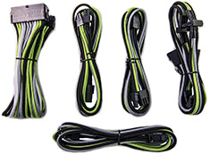 PCCG Sleeved Cable Extension Kit Green Industrial