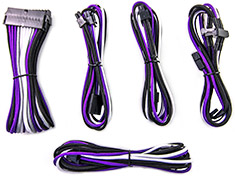 PCCG Sleeved Cable Extension Kit Grape Blast