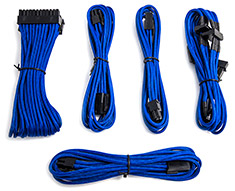 PCCG Sleeved Cable Extension Kit Blue
