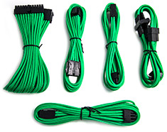 PCCG Sleeved Cable Extension Kit Green