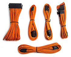 PCCG Sleeved Cable Extension Kit Orange