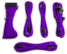 PCCG Sleeved Cable Extension Kit Purple