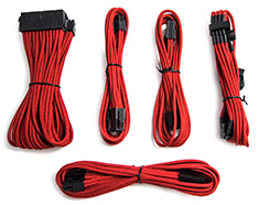 PCCG Sleeved Cable Extension Kit Red