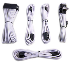 PCCG Sleeved Cable Extension Kit White