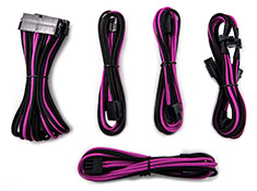 PCCG Sleeved Cable Extension Kit Pink Pinstripe