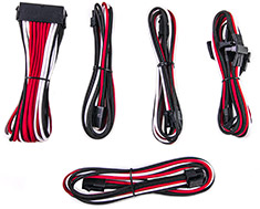 PCCG Sleeved Cable Extension Kit Redstripe